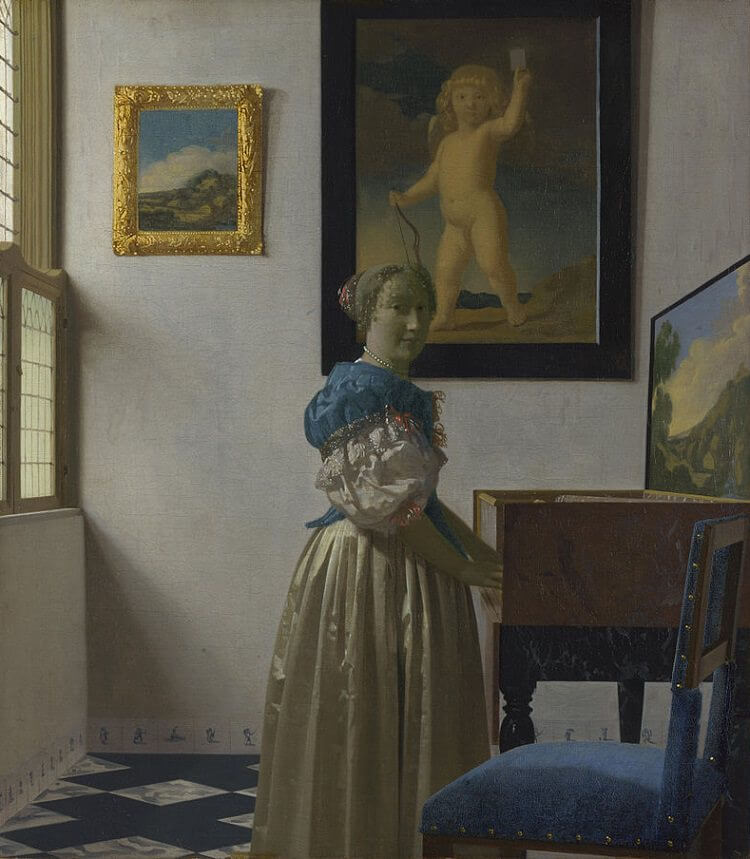 A Lady Standing at a Virginal, 1670 - by Johannes Vermeer