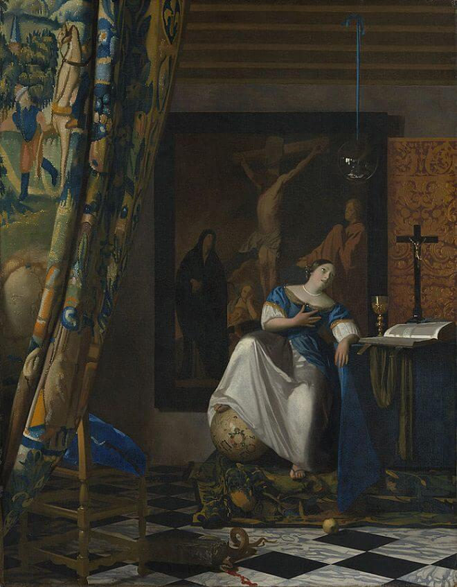 Allegory of Faith, 1671 by Johannes Vermeer