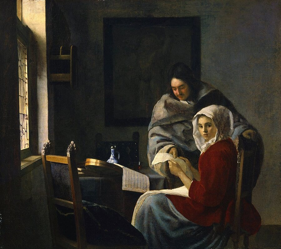 Girl Interrupted at her Music, 1658 by Johannes Vermeer