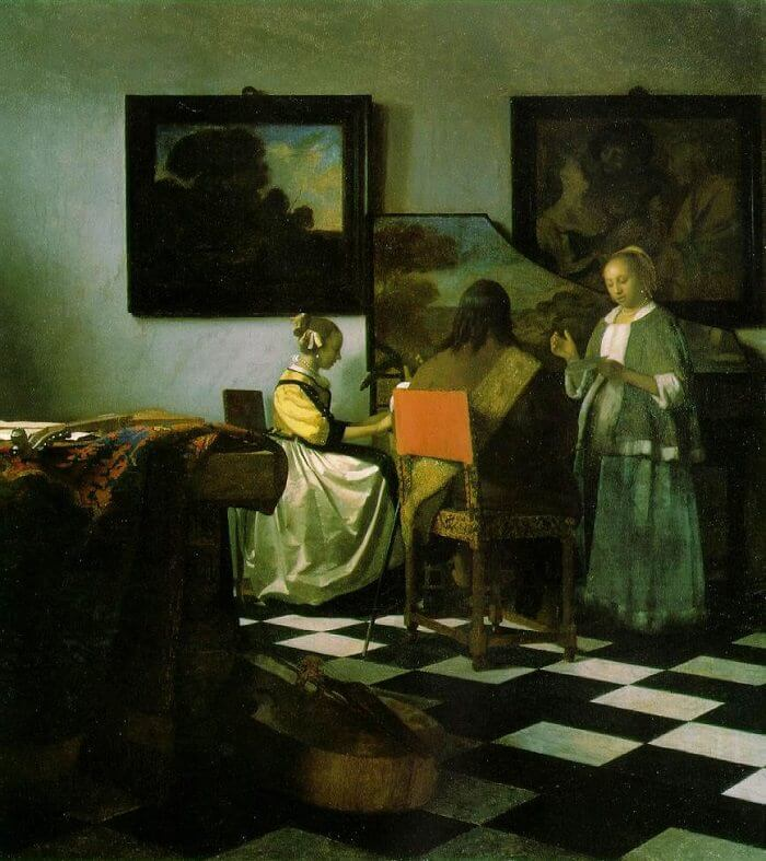 The Concert, 1664 by Johannes Vermeer