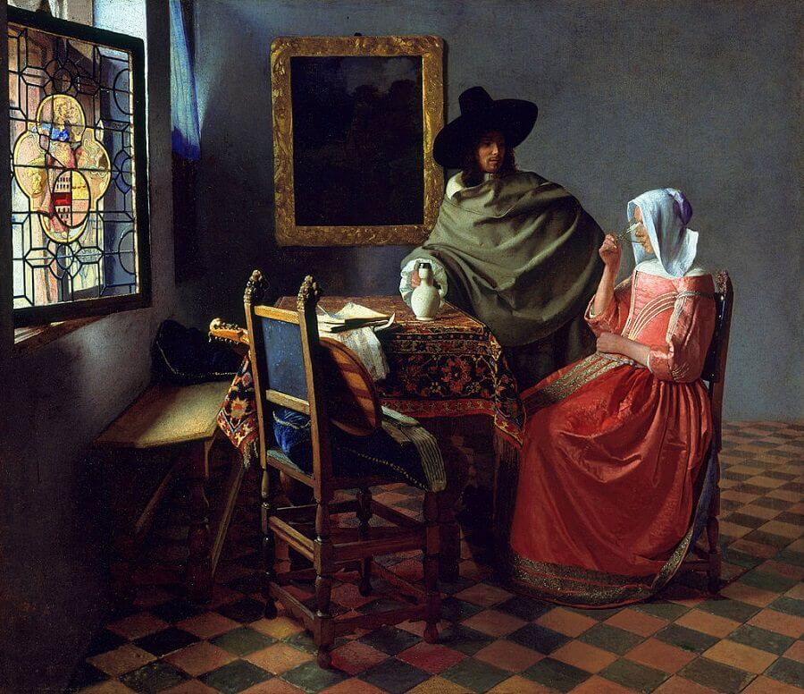 The Glass of Wine, 1658 by Johannes Vermeer