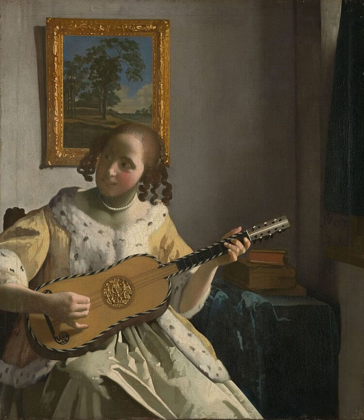 The Guitar Player, 1672 - by Johannes Vermeer