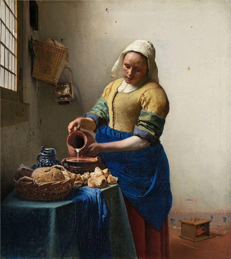 The Milkmaid, 1658 by Johannes Vermeer