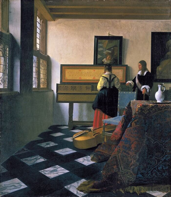 The Music Lesson, 1665 by Johannes Vermeer