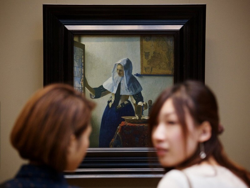 Photo of Woman with a Water Jug by Johannes Vermeer